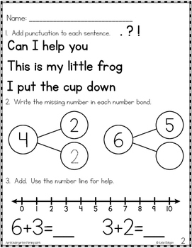 Kindergarten Morning Work for April