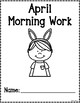 Kindergarten Morning Work for April {Alternative Print Style}