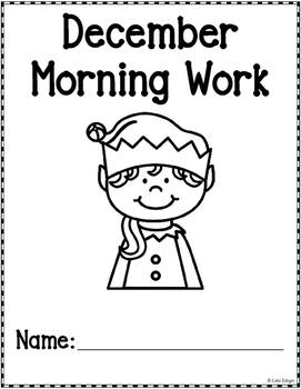 Kindergarten Morning Work - December