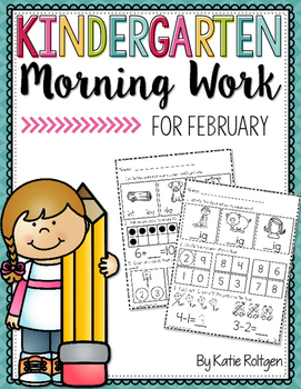 Kindergarten Morning Work for February