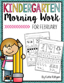 Kindergarten Morning Work for February