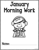 Kindergarten Morning Work for January