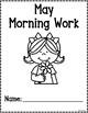 Kindergarten Morning Work for May {Alternative Print Style}