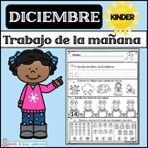 Kindergarten Morning Work in Spanish December