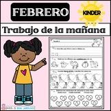 Kindergarten Morning Work in Spanish February