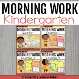 Kindergarten Morning Work Bundle  with Google Classroom Distance Learning