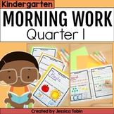 Kindergarten Morning Work 1st Quarter