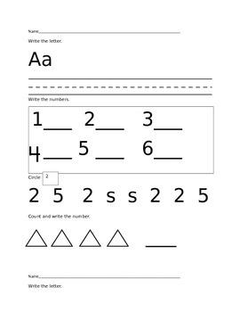 Kindergarten Common Core Test Prep/ Morning Work/ Workshop/ Independent Work
