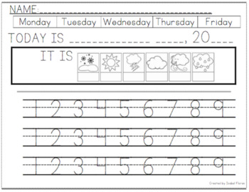 Kindergarten Morning Worksheets with Sight Words and Alphabet