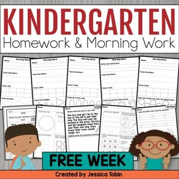 Kindergarten Morning and Afternoon Routine FREEBIE