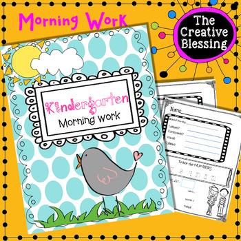 Kindergarten Morning work Numbers 0-100