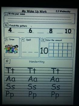 Kindergarten Morning work that corresponds with Scott Foresman 2.3