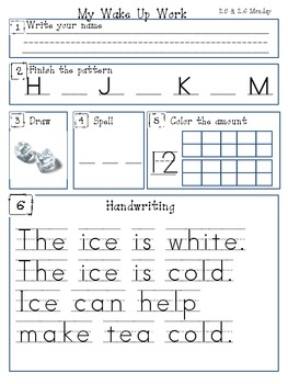 Kindergarten Mornng Work Scott Foresman Series 2.5