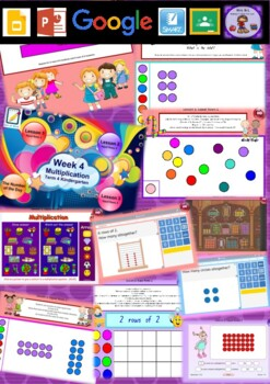 Kindergarten Multiplication Smart Notebook and Unit of Work Bundle 3