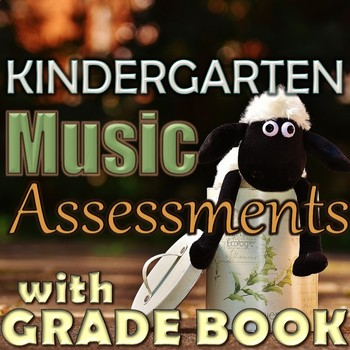 Kindergarten Music Assessments with Grade Book Page - PDF - Back-to-School BTS