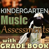 Kindergarten Music Assessments with Grade Book Page - PDF