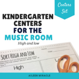 Kindergarten Music Centers {High and Low}
