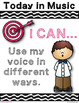 Kindergarten Music Learning Targets - I Can Statements for