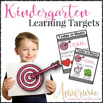 Kindergarten Music Learning Targets - I Can Statements for the Year!!