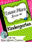 Elementary Music Lesson Plan: Kindergarten Music Lesson Plan {Day 1}