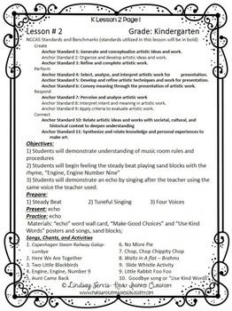 Kindergarten Music Lesson Plan {Day 2}