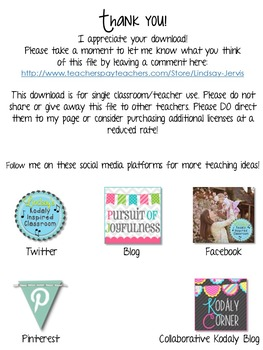 Kindergarten Music Lesson Plan {Day 3}