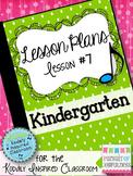 Kindergarten Music Lesson Plan {Day 7}