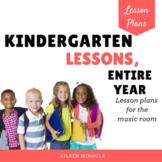 Kindergarten Music Lesson Plans, Entire Year {Bundle}