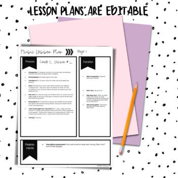 Music Lesson Plans for Kindergarten, #1-10