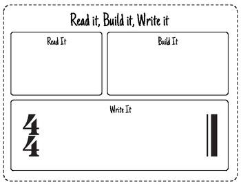 Kindergarten Music: Read it, Build it, Write it Activity!