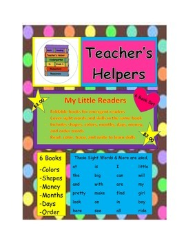 Kindergarten My Little Readers Sight Words 6 Books Shapes