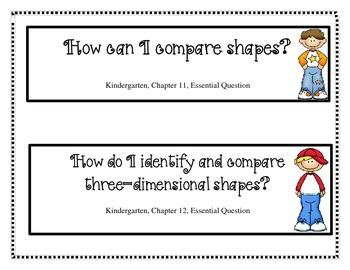 Kindergarten My Math Essential Questions