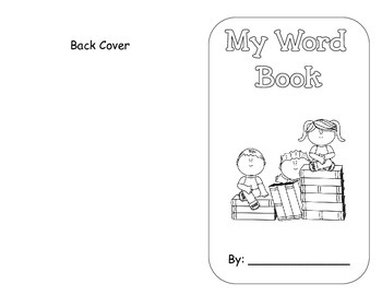 """Kindergarten """"My Word Book"""""""