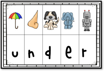 Kindergarten Mystery Sight Words