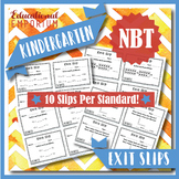 Kindergarten NBT Exit Slips:Number & Operations in Base Ten Tickets Kindergarten