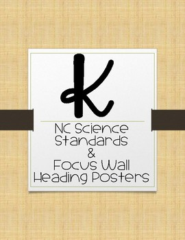 Kindergarten NC Science Essential Questions and Focus Wall Posters