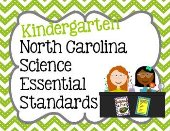 Kindergarten NC Science Essential Standard Posters