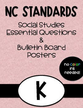 Kindergarten NC Social Studies Standards and Focus Wall Posters