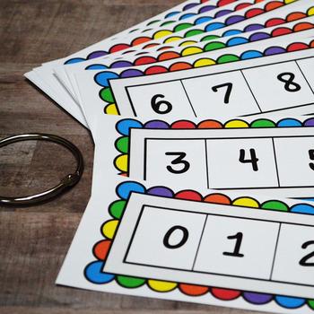 Kindergarten NEW Math TEKS K.2A: Count Forward/Backward Number Strips