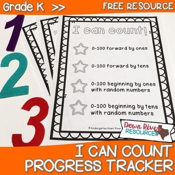 Kindergarten NEW Math TEKS K.2A, K.5: I Can Count Progress Tracker