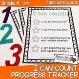 Kindergarten NEW Math TEKS K.2A, K.5: I Can Count Progress