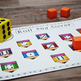 Kindergarten NEW Math TEKS K.2ABCD: 36 Roll and Cover Game