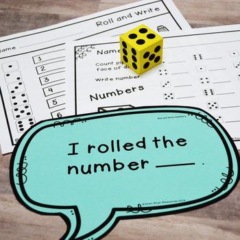 Kindergarten NEW Math TEKS K.2ABCDF, K.3A, K.6AF: Numeracy Dice Bundle