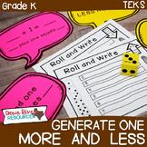 Kindergarten NEW Math TEKS K.2F: Generate One More/ One Less Games & Printables