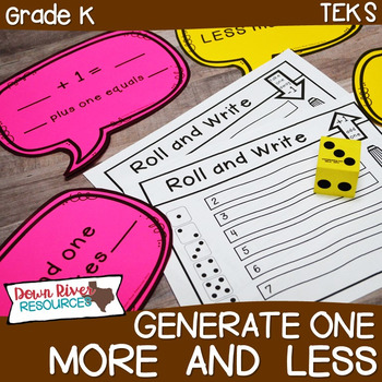 Kindergarten NEW Math TEKS K.2F: Generate One More/ One Less Games & Printables