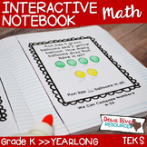 Kindergarten NEW Math TEKS: Math Notebook Bundle for Entire Year