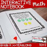 Kindergarten NEW Math TEKS: Math Notebook Bundle for Entire Year