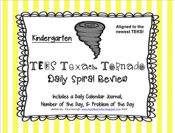 Kindergarten NEW TEKS TX Tornado Spiral Review Part 2: Set
