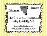 Kindergarten Math TEKS Texas Tornado Spiral Review Part 4 (Sets 25-30)