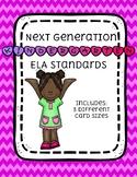 Kindergarten NEXT GENERATION ELA standards (dash border)